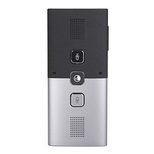 Richer-R Smart Übersetzer Sprachübersetzer, Intelligenter Bluetooth Reiseübersetzer Multi-Language Übersetzer,Drahtloser Echtzeit Simultanübersetzung Translator Lautsprecher Silber+Schwarz