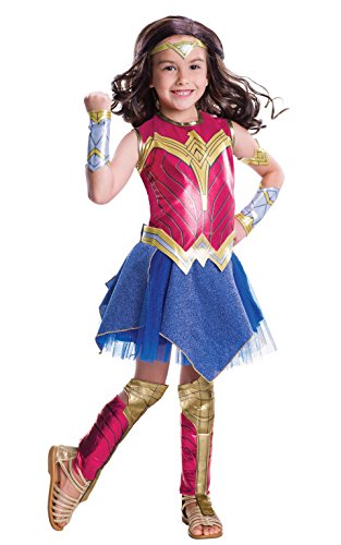 Girls Official Deluxe Wonder Woman Dawn of Justice Costume - Ages 3-10