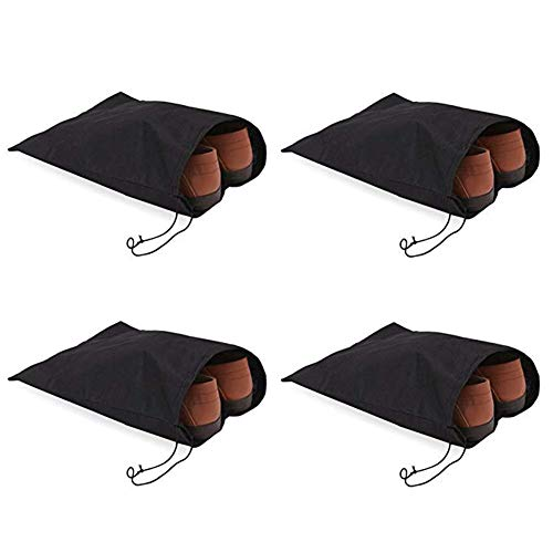 LAAT Drawstring Schuh Sack Travel Schuhbeutel Packung mit 4 weichen Nylon Schuh Tote Taschen Schuhe Stiefel Staubdicht Organizer Aufbewahrungsbeutel Koffer f