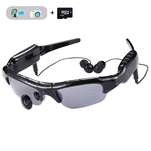 Este gafas de sol de deporte multifuncional con reproductor de MP3, puede tomar vídeo de alta definición, tomar fotos de alta calidad, Tarjeta micro de la ayuda SD / TF (incluya la tarjeta de memoria 8GB), con la operación del hoyuelo, diseño elegant...