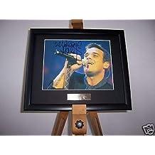 Robbie Williams fotografía enmarcada música Memorabilia ...