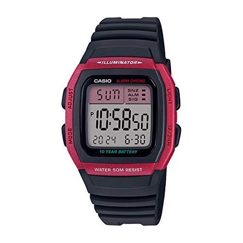 Casio Digital Pink Dial Unisex's Watch-W-96H-4AVDF (D176)