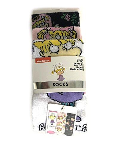 Ladies Girls Nickelodeon Rugrats Team 3 pairs Socks size UK 4-8, EUR 37-42
