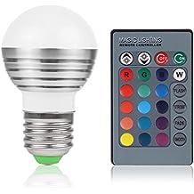 RGBW LED 3W E27RGBW LED fase lampada lampadina 16colori con