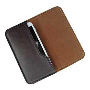 i-KitPit : PU Leather Flip Pouch Case Cover For Lava Xolo Q700 (BROWN)