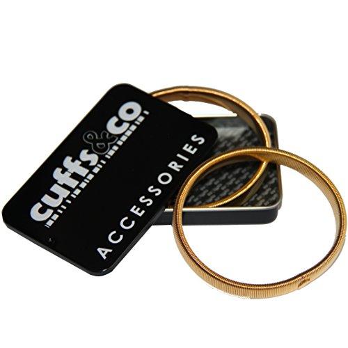 Metall Hemd Ärmel Armbänder CUFFS & Co - Gold, One size