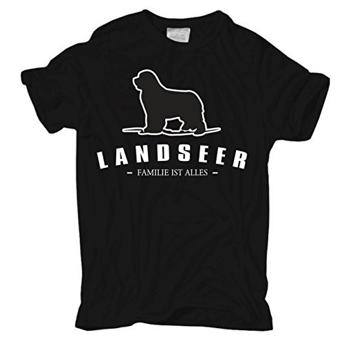 Männer und Herren T-Shirt Landseer - Familie ist alles Größe S - 8XL Körperbetont schwarz