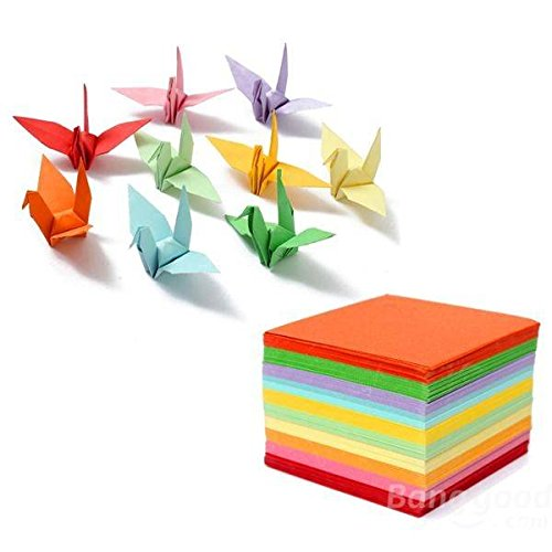 mark8shop 520pcs 7 x 7 cm Marke New Origami Square Papier doppelseitig Farbige Blatt Craft DIY Square Papier