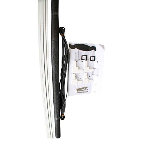 TOP MULTI Insektenschutz-Gitter + Rahmen in weiß 130x150 cm zum Einhängen | Fiberglas + Alu-Rahmen für Fenster | Fliegen-Gitter Insekten & Mücken | Fiberglas-Gewebe | Insekten-Schutz | Moskito-Netz