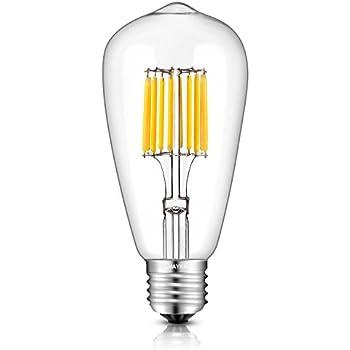 TAMAYKIM ST64 10W Antico Edison Stile Filamento Lampadina LED - 2700K Bianco Caldo 1000 lumen - 10W equivalente a 100W - Attacco E27 - 360° Angolazione Fascio Luce - Non Dimmerabile