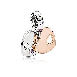 Pandora Moments Part of my heart Damen Charm Anhänger 925 Sterlingsilber 22 mm