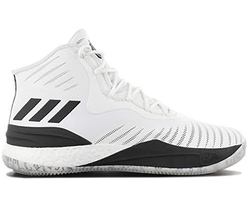 adidas Herren D Rose 8 Basketballschuhe Weiß (Ftwwht/Cblack) 45 1/3 EU