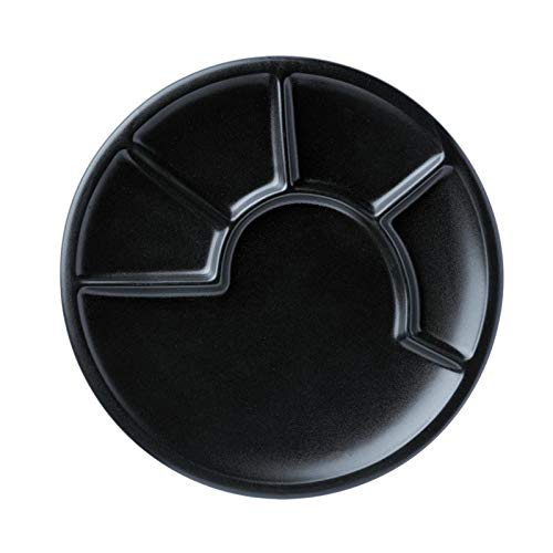 Spring Fondue Teller Ø 23 cm Schwarz hochwertige Keramik matt glasiert