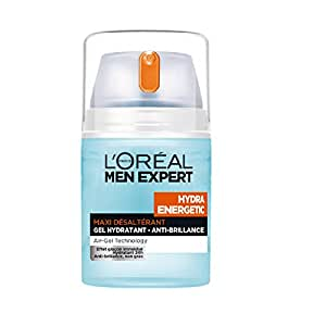 L'Oréal Men Expert Hydra Energetic Gel Hydratant Anti-brillance Visage Homme 50 ml