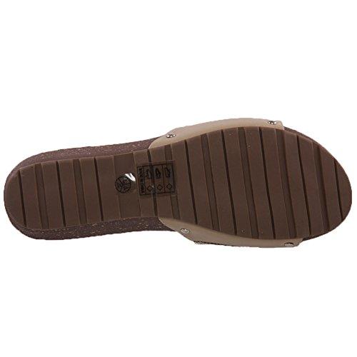 Unze Für Frauen Zuiys , Shimmery Slip-on -Keil-Schuhe - DN5269-A2 Beige