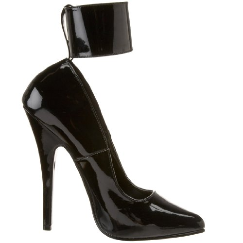 Pleaser Dom434/b, Escarpins Femme Noir (Black)