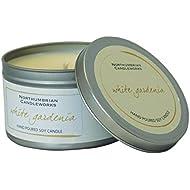 Pequeño Vela en lata–White gardenia