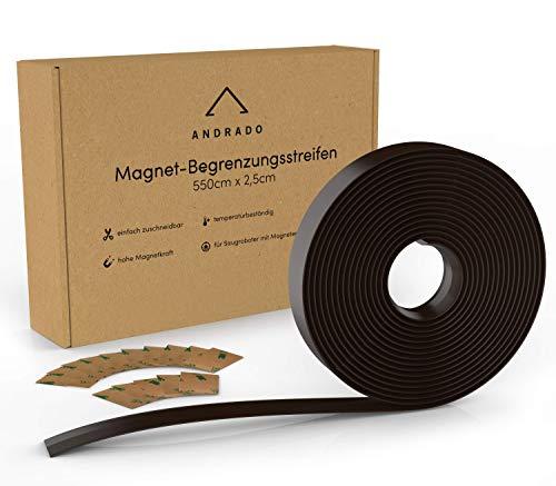5.5m XXL Saugroboter Magnetband (inkl. Klebestreifen) - Begrenzungsstreifen für Staubsauger-Roboter - u.a. kompatibel mit Xiaomi Roborock, Neato, Vorwerk, Tesvor von ANDRADO