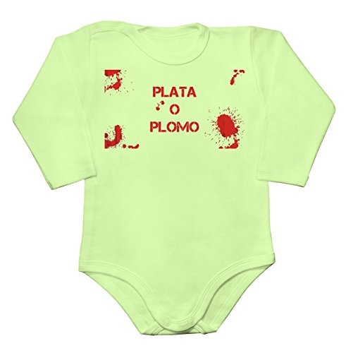 bloody-plata-o-plomo-artwork-baby-long-sleeve-romper-bodysuit-extra-small