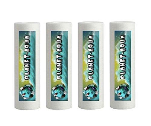 Planet-Aqua 5 Stück Sediment Filterkerze in 10 Zoll Größe mit 50 Mikron Feinheit aus Polypropylen als Filter Kartusche für die Osmoseanlage Umkehrosmose Wasserfilter Osmose Aquarium Wasser
