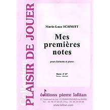 Mes premières notes - Schmitt Marie luce - Clarinette et piano
