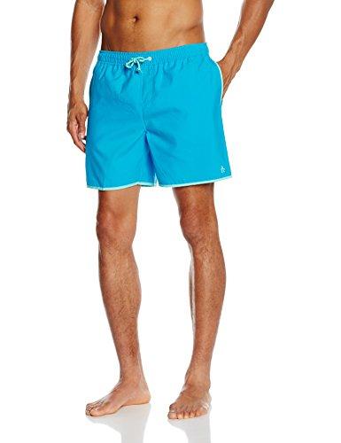 original-penguin-mens-earl-elastic-plain-swim-shorts-blue-vivid-blue-x-large