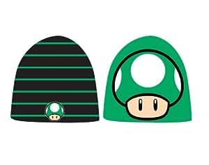 Super Mario - wendbare 1UP-Pilz Beanie Mütze