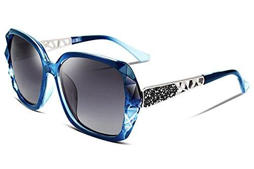 FEISEDY Klassische Polarisierte Damen Sonnenbrille glänzend Verbundrahmen B2289
