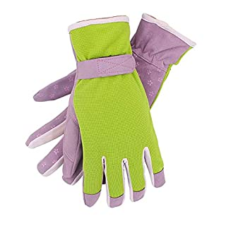 QEES Womens Gardening Gloves, Thorn Proof and Anti-Cutting Gauntlet, Safety Work Riggers for Gardening Gifts (Purple)