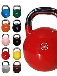 Body Revolution Wettbewerb Kettlebells - Wettbewerb Standard Kugelhantel Farben Einzeln oder Komplett Set - 4kg 6kg 8kg 10kg 12 kg 14kg 16 kg 18kg 20kg 24 KG - 6kg - Rot