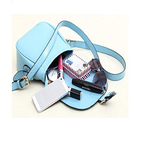 Kangrunmy Donne rivestono di pelle a tracolla pochette borsetta di moda Tote borsa Messenger Blu