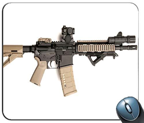 AR-15 Hintergrund Mauspad Pad Gaming Mauspad Rutschfeste Gummibasis, Mauspad für Computer & PC (MP110809) -