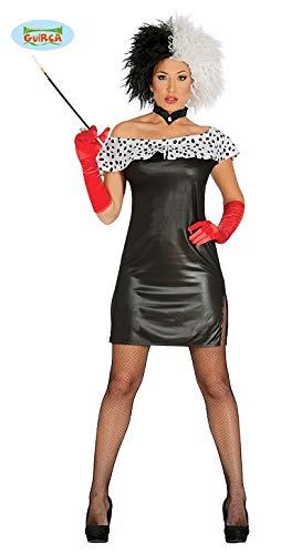 Dalmatiner Lady Minikleid Kostüm für Damen Gr. S - L, ()