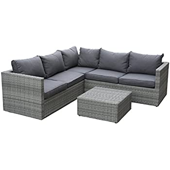 Amazon.de: Poly Rattan Sofa Lounge Set \