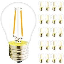 20 Pack G45 filamento LED Bombilla de hilos (E27, 2 W, 180 lúmenes