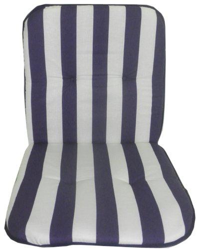 10 Che (Gartenstuhl-Kissen/Auflage für stapelbare Gartenstühle aus Kunststoff, Modell mit Rückenlehne und Sitzfläche, 10verschiedene Motive erhältlich Circa 72 x 40 x 2 cm blau)