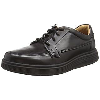 Clarks Men's Un Abode Ease Derbys, (Black Leather), 7.5 UK