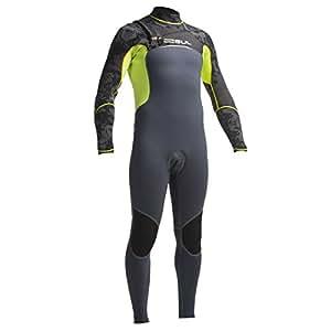 Gul Viper Venom 5/3mm Chest Zip Stitchless Wetsuit Graphite/Fluro Lime VR1231 Wetsuit Sizes - Small