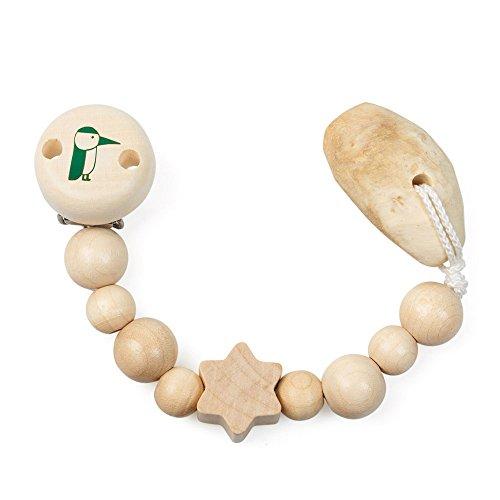 GRÜNSPECHT Naturprodukte 589-00 broche para chupete Madera Niño/niña - Broches para chupete (Madera, Imagen, Niño/niña, Madera)