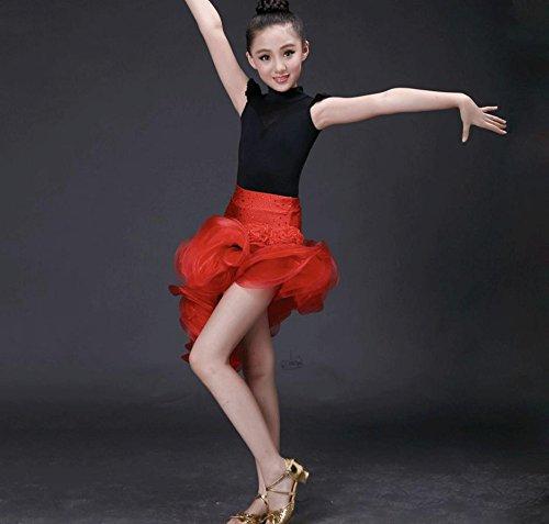 Kinder Latin Dance Rock Kinder Mädchen Kostüm Leistung Wettbewerb Kleidung , (Ruhm Kostüme)