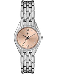 Spirit Ladies Analogue Round Golden Dial With Silver Bracelet ASPL109