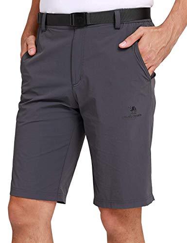 CAMEL CROWN Herren Cargo Shorts Schnell Trocknende Kurze Hose Sweatshorts Leicht Bequem Sommer Shorts mit Taschen Halb Elastische Taille Freizeithose für Männer Outdoor -
