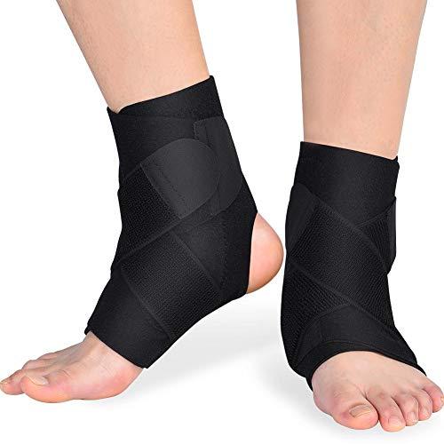 Knöchelbandage, verstellbare Unterstützung Atmungsaktives Nylonmaterial Super elastische Ärmel für Männer und Frauen -