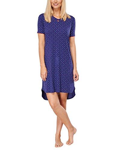 Seidensticker Damen Sleepshirt 1/2 Nachthemd, blau 800, 38