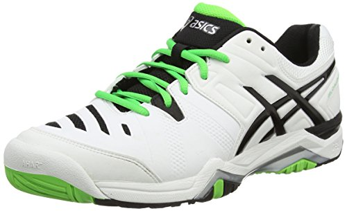 Asics Gel-challenger 10, Chaussures de Tennis Homme Blanc (white/silver/flash Green 0193)