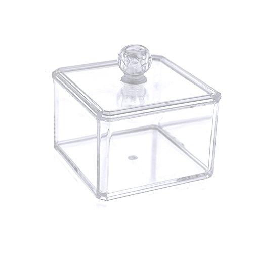 Vococal® Clear Acrylique Multifonctionnel Home Office Desk Maquillage Bijoux Organisateur Boîte Titulaire Contenant de Rangement avec Couvercle