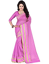 Perfectblue Women`s Cotton Silk Checks Designer Saree With Blouse Piece.(MagicChecksSkyblue_Skyblue)