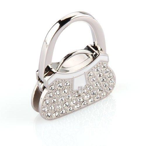 SODIAL(R) Metall Strass Damen Handtasche Handtaschenhalter Taschenhalter Taschenhaken