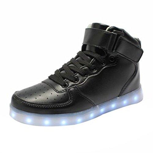 (Présents:petite serviette)JUNGLEST® iPretty-Nouvelle 2016 printemps Sneaker blanc 7 Couleurs chargement USB LED Light chaussures de sport pour un initial