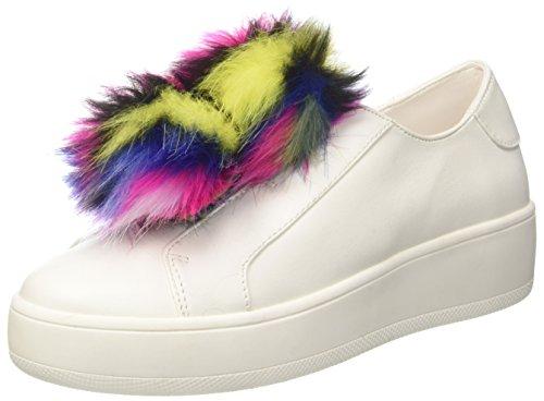 Steve Madden Breeze, Zapatillas para Mujer, Blanco (White Multi White Multi), 38 EU